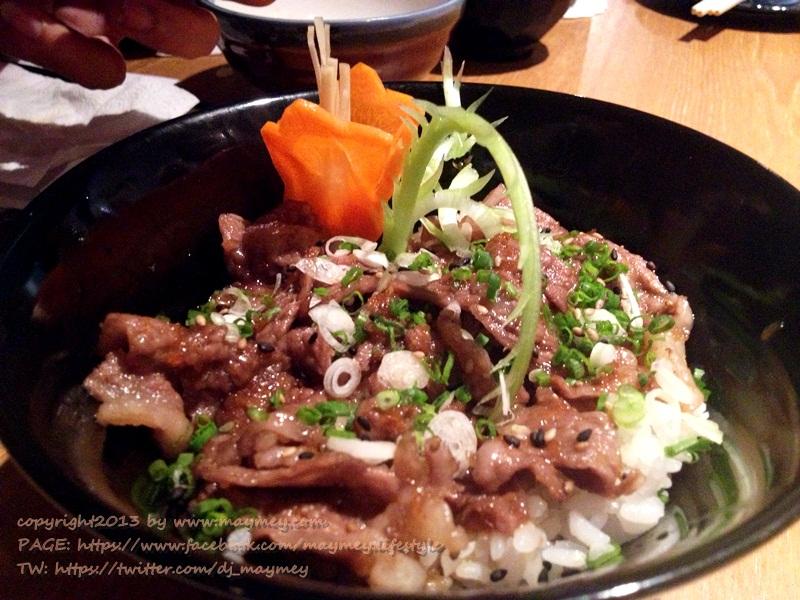 ข้าวหน้าเนื้อมัสซึซากะ @ WASHOKU