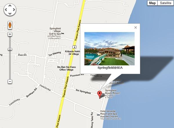 Springfield @ Sea Cha-am map