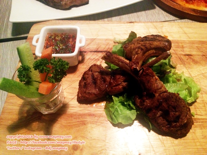 Grilled Lamb Chop with Spicy Sauce