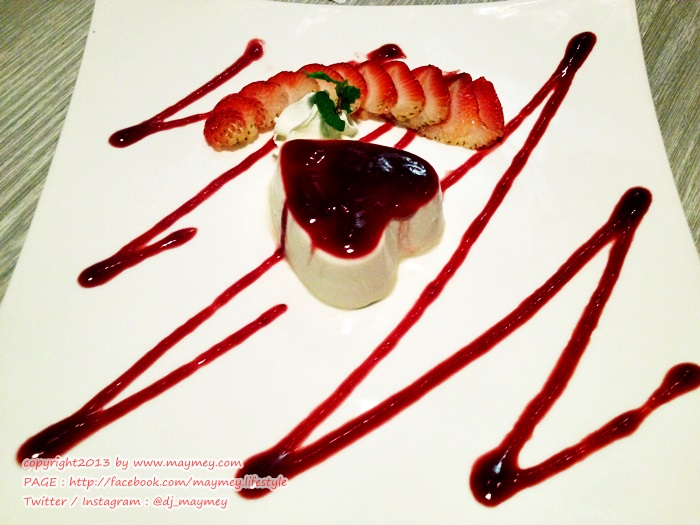 Panacotta with Strawberry Sauce