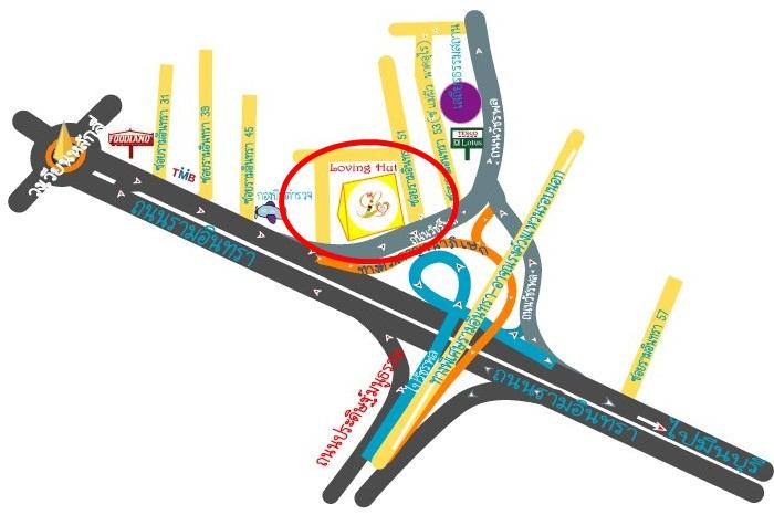 map ร้าน Loving Hut รามอินทรา 51