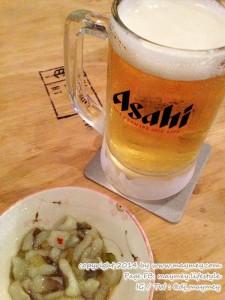 เบียร์สด กับ ปลาหมึกวาซาบิ