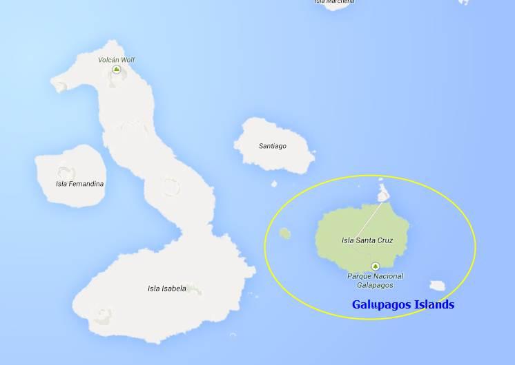 map Galapagos