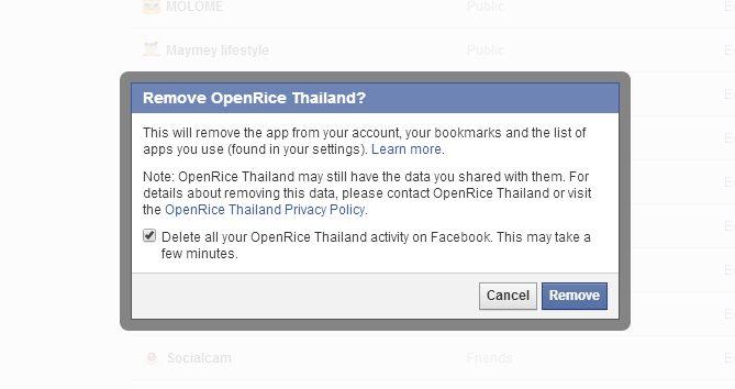 ใน facebook แอพที่เคยผูกกับ account ไว้ ก็ควรจะเข้าไปเช็คและปิดการใช้งาน