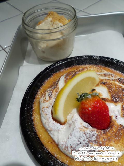 Warm Bake Dessert with Homemade Ice Cream