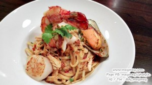 เมนู พาสต้าซีฟู้ดรสเผ็ด (Seafood Linguine Pasta)