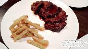 เมนู แก้มวัวราดซอสเผ็ดบาร์บีคิว (BBQ Wagyu Beef Cheek)