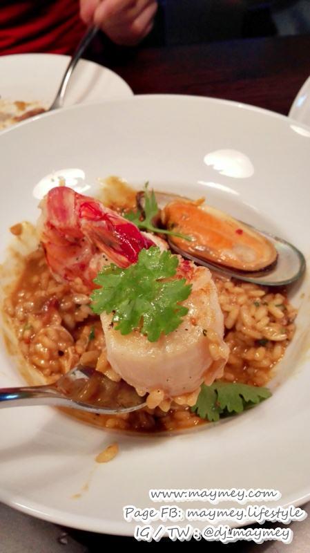 Seafood Saffron Risotto รีซอตโต้รสจัดจ้าน