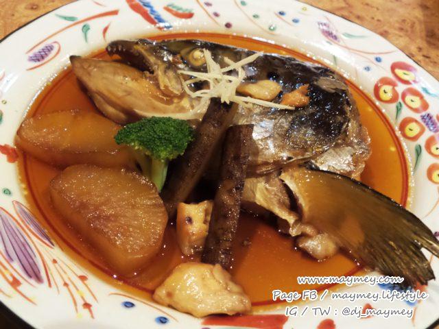 หัวปลาแซลมอนนึ่งซีอิ้ว