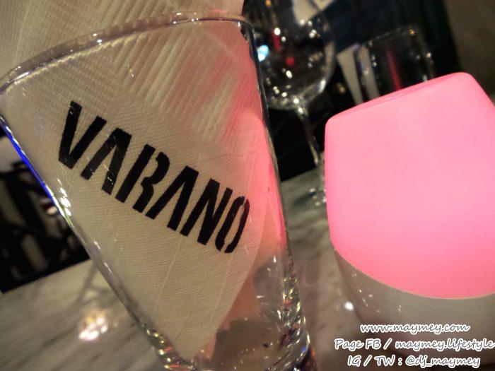 กระดาษในร้านยังทำเป็นชื่อ Varano wine bar & cafe The UP Rama 3