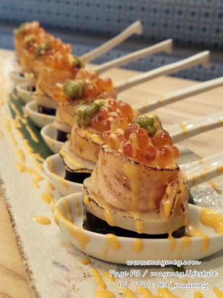 New York style salmon hotate