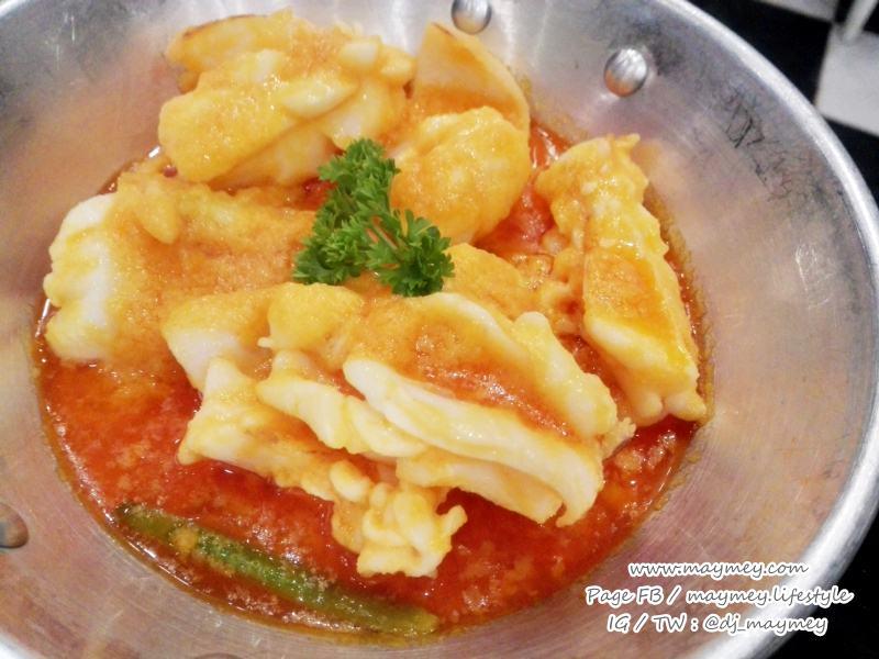 หมึกผัดไข่เค็ม-Laemgate Seafood