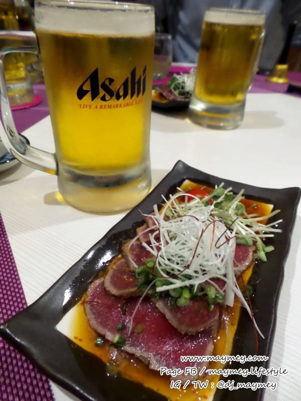 Gyu Tataki เนื้อสไลด์สไตล์ญี่ปุ่น กับเบียร์เย็นๆ