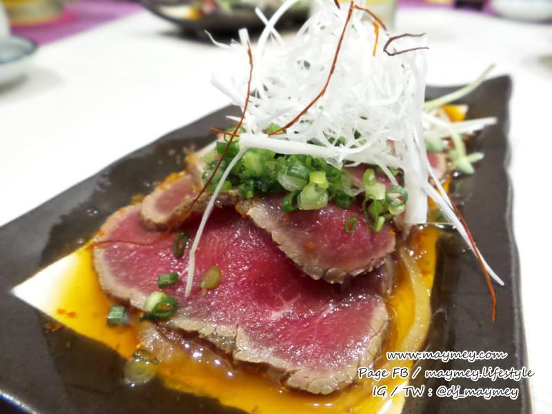 Gyu Tataki เนื้อสไลด์สไตล์ญี่ปุ่น