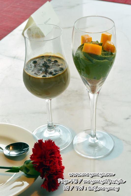 ของหวานแนะนำ พานาคอตต้ากาแฟ และ มูสชาเขียวมะม่วง