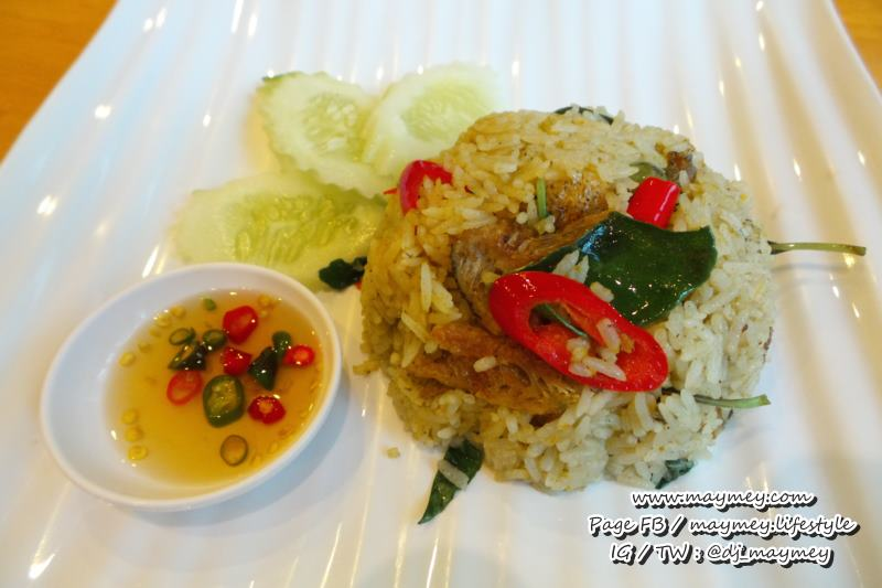 ข้าวผัดแกงเขียวหวานปลาสลิด