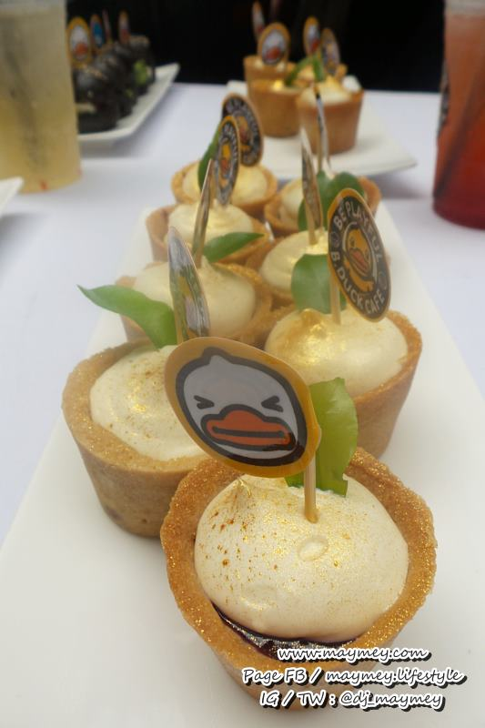 อาหารในงานเปิดตัว B Duck cafe thailand