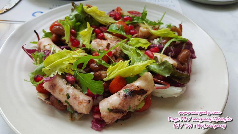 Pepperoni Piedmontese Insalata di Polpo e Borlotti Grilled octopus